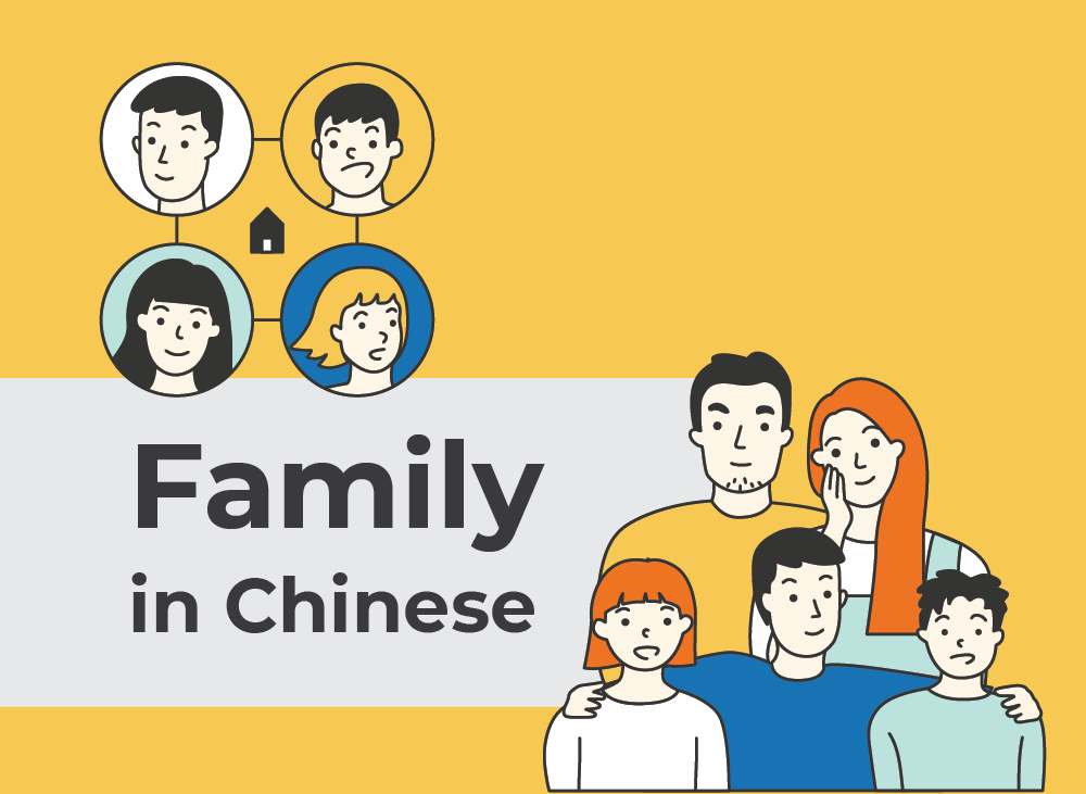 Family Members in Chinese   Learn Chinese Vocabulary with NihaoCafe